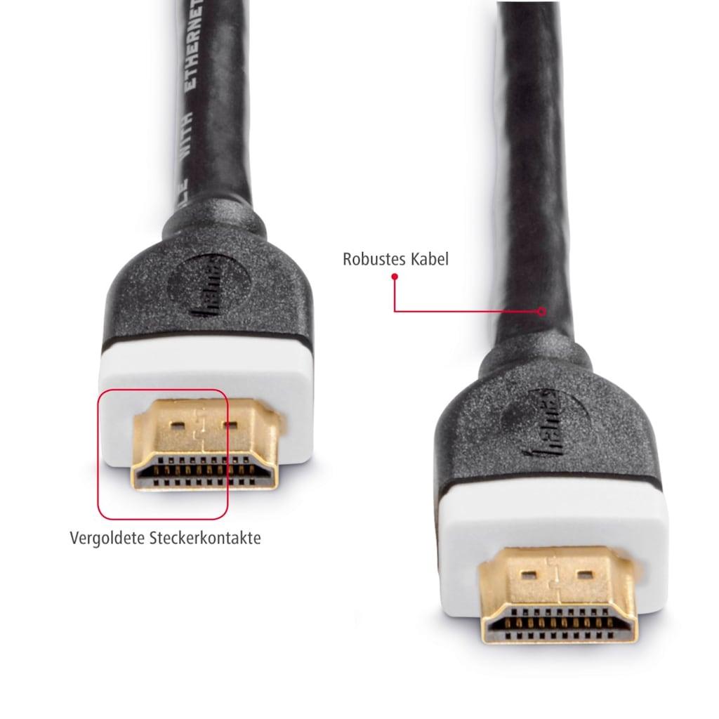 Hama HDMI-Kabel »High Speed, bis 18 Gbit/s«, Cinch-HDMI, HDMI Kabel 5m, 4k, 3D, Ethernet Anschlusskabel