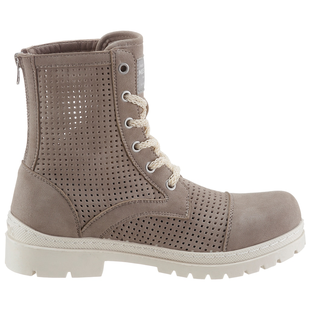Mustang Shoes Schnürboots, mit luftiger Perforation
