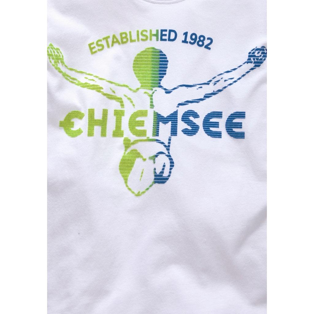 Chiemsee T-Shirt, mit samtigem Druck