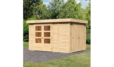WOODFEELING Gartenhaus »Retola 4«, BxT: 342x262 cm, mit Anbauschrank kaufen