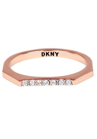 DKNY Fingerring »NYC Skinny Pave RG (RG), 5548761, 5548762, 5548763«, mit Swarovski®... kaufen