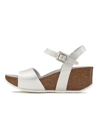 LASCANA Sandalette, mit Keilabsatz und Korkfußbett kaufen
