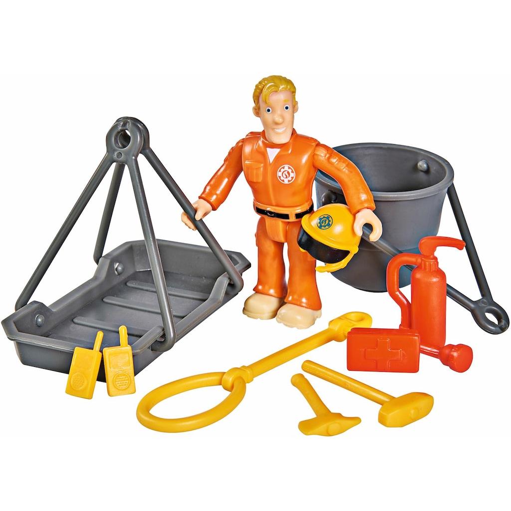 SIMBA Spielzeug-Hubschrauber »Feuerwehrmann Sam, Hubschrauber Wallaby II mit Figur und Sound«