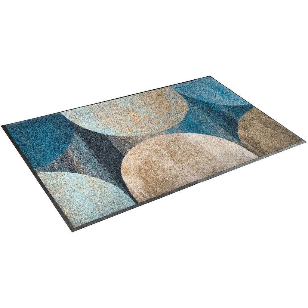 wash+dry by Kleen-Tex Teppich »Galaxia«, rechteckig, 7 mm Höhe, waschbar, Wohnzimmer
