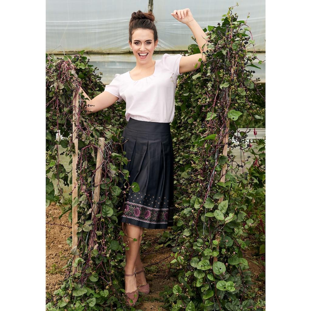 Love Nature Trachtenrock, mit effektvoller Bordüre - Made in Austria