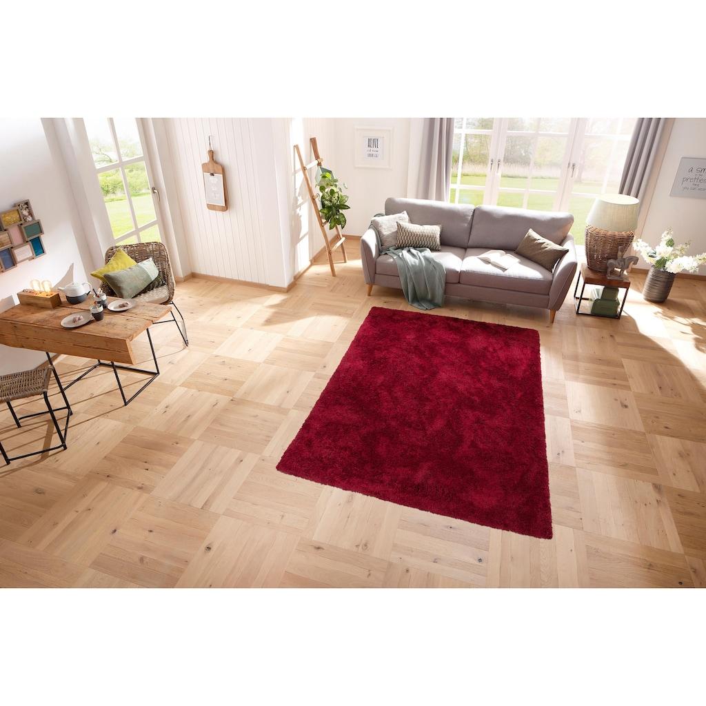 my home Hochflor-Teppich »Desner«, rechteckig, 38 mm Höhe, Besonders weich durch Microfaser, Wohnzimmer