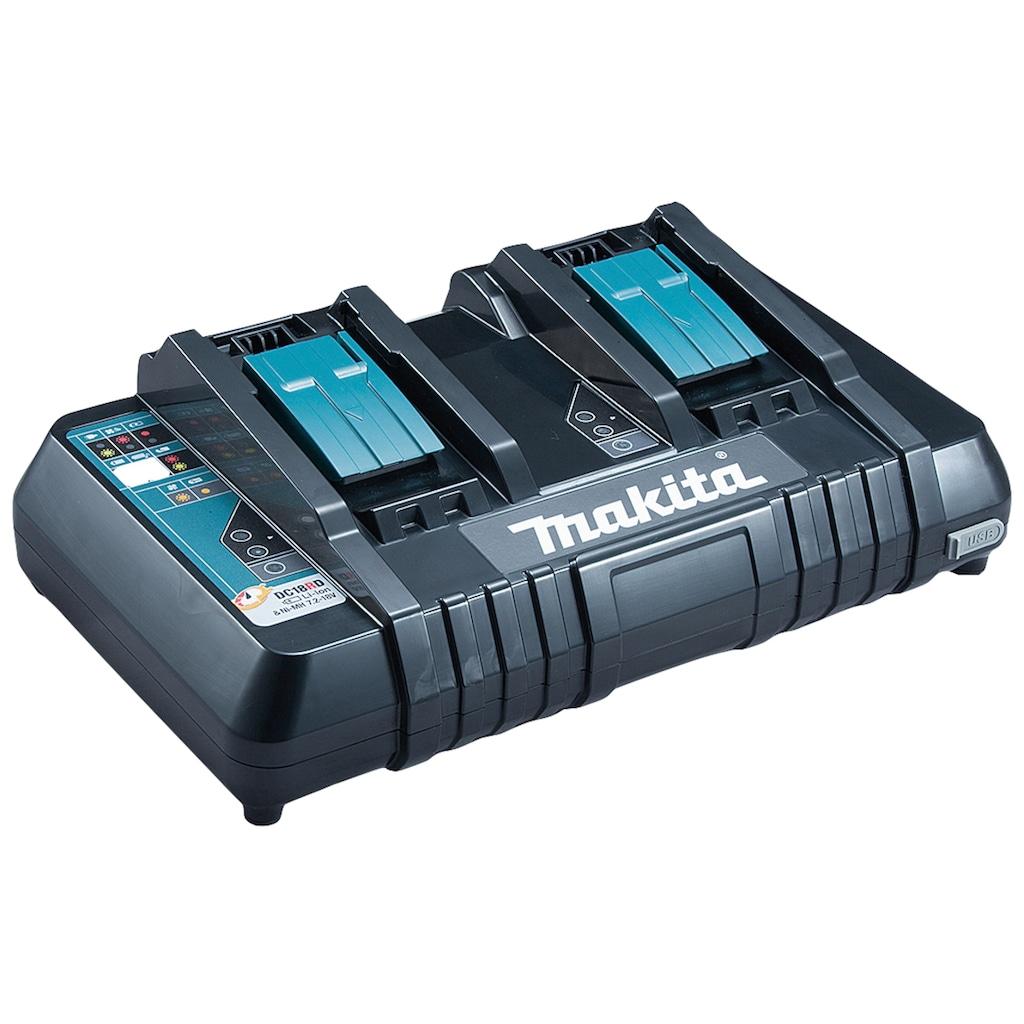 Makita Akku-Ladestation »DC18RD«, (1 St.), Schnellladegerät für 14,4 V und 18 V Akkus geeignet