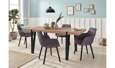 Home affaire Essgruppe »Sanchez und Bradford«, (Set, 5 tlg.), mit Tisch, Breite 180 cm kaufen