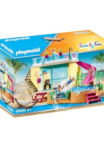 Playmobil® Konstruktions-Spielset »Bungalow mit Pool (70435), Family Fun«, ; Made in... kaufen
