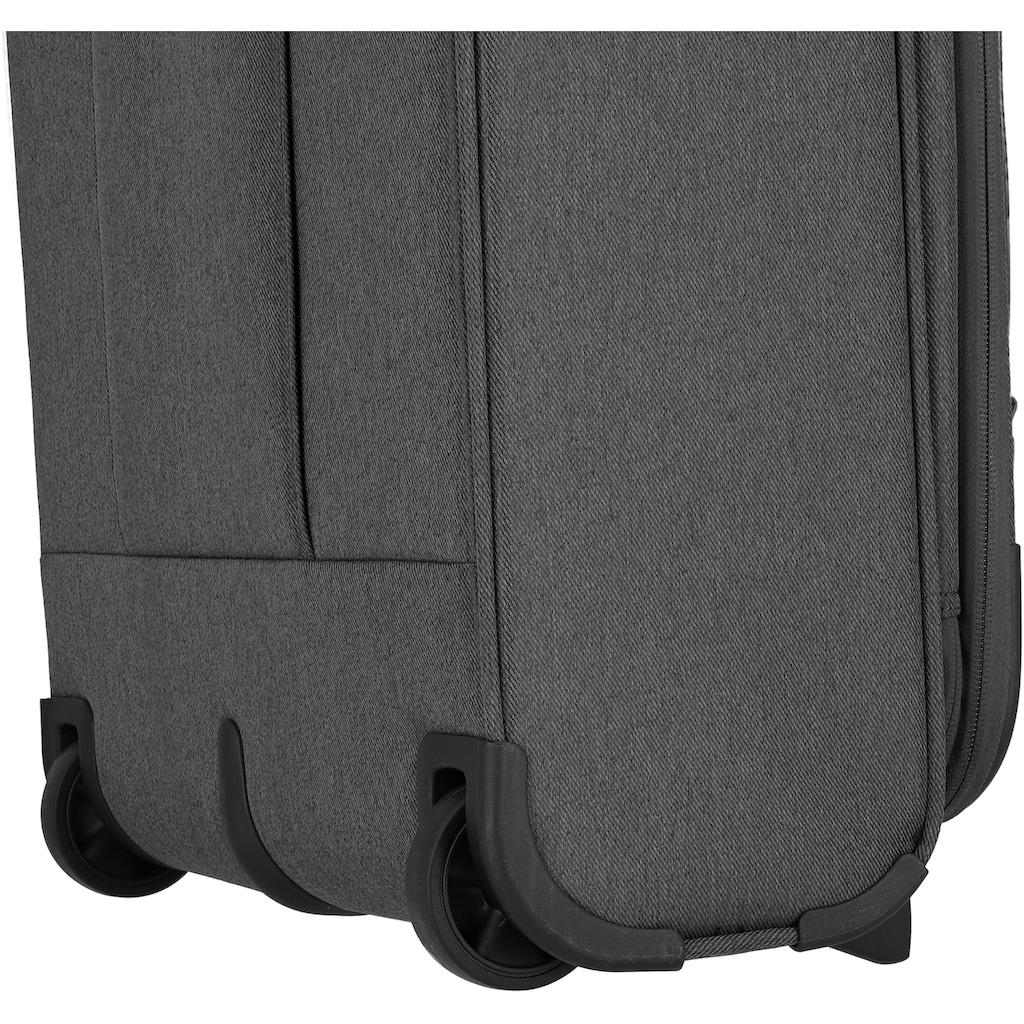 travelite Weichgepäck-Trolley »Madeira, 55 cm, anthrazit/grau«, 2 Rollen, mit Volumenerweiterung
