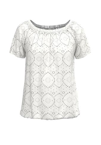bianca Blusenshirt »SIANA«, in Stickereioptik mit femininem Ausschnitt kaufen