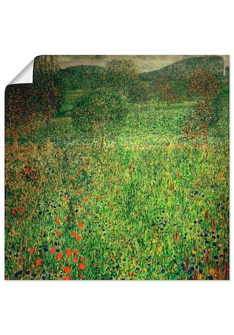 Artland Wandbild »Gartenlandschaft«, Wiesen & Bäume, (1 St.), in vielen Größen &... kaufen