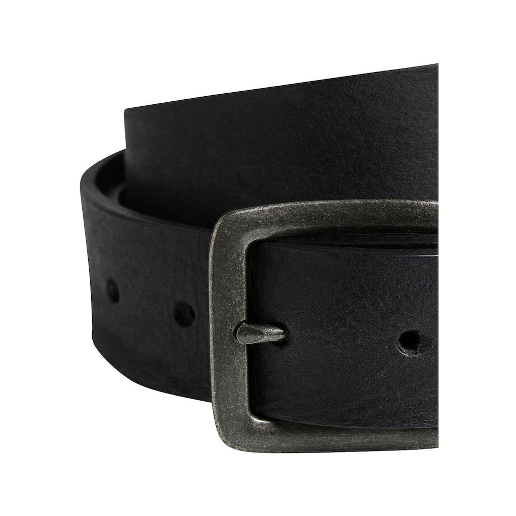 Jack & Jones Ledergürtel, Vintage-Look, genarbte Oberfläche
