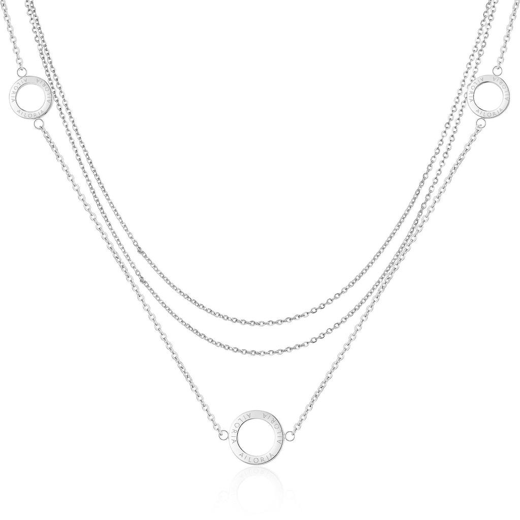 AILORIA Kette mit Anhänger »ANNABELLE Halskette Silber«, Hochglanz-Finish