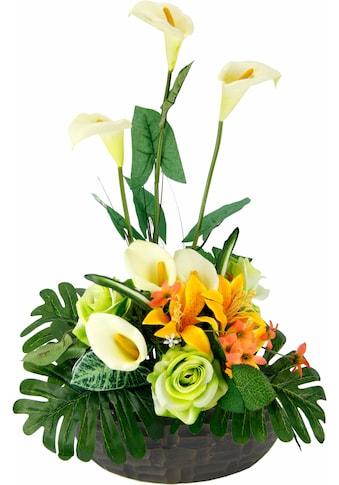 I.GE.A. Kunstpflanze »Arrangement Calla/Blüten 56/33 cm« (1 Stück) kaufen
