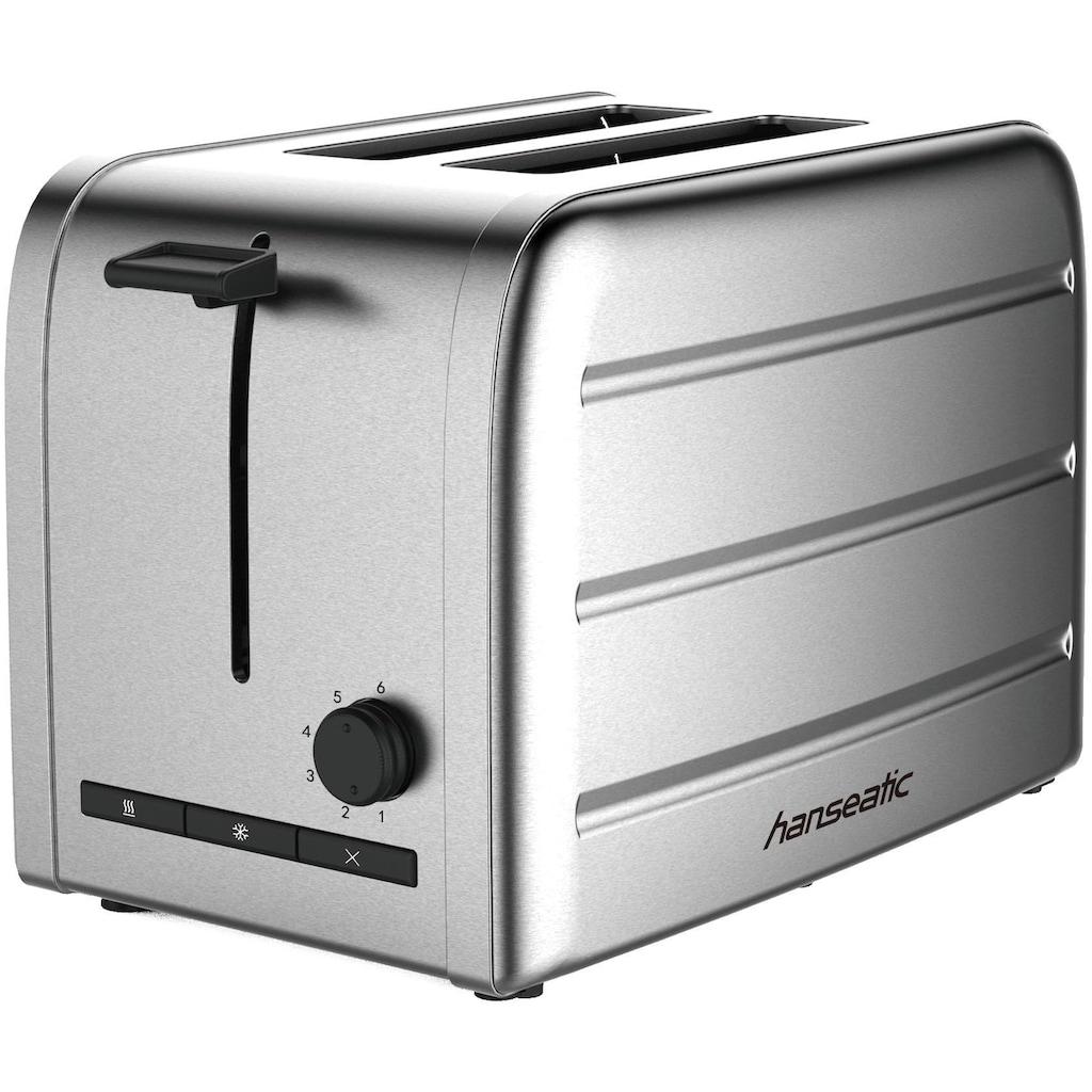 Hanseatic Toaster »36814853«, 2 kurze Schlitze, 1050 W