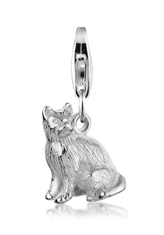 Nenalina Charm-Einhänger »Anhänger Katze Tier 925 Silber« kaufen