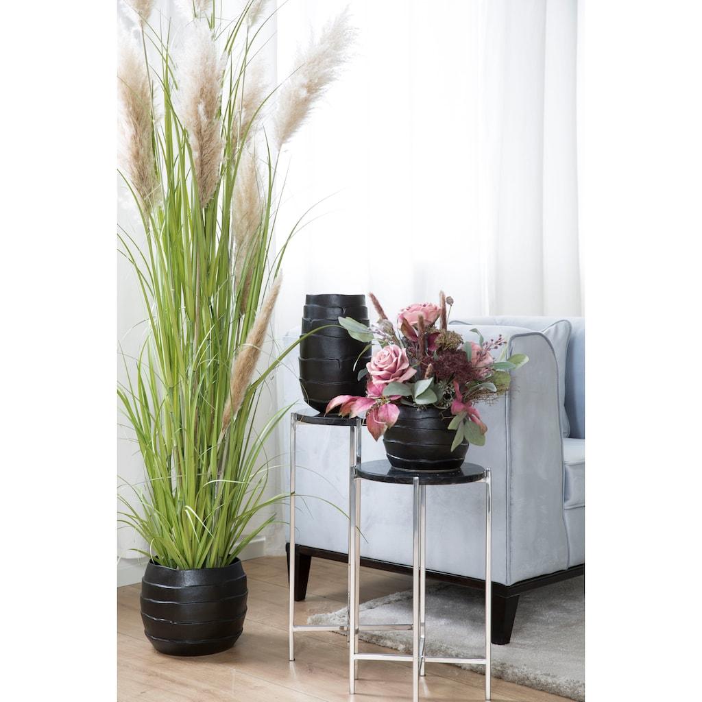 Fink Übertopf »COCON, schwarz«, (1 St.), Pflanzübertopf, Blumenübertopf, Blumentopf, aus Keramik, in verschiedenen Größen erhältlich, Wohnzimmer
