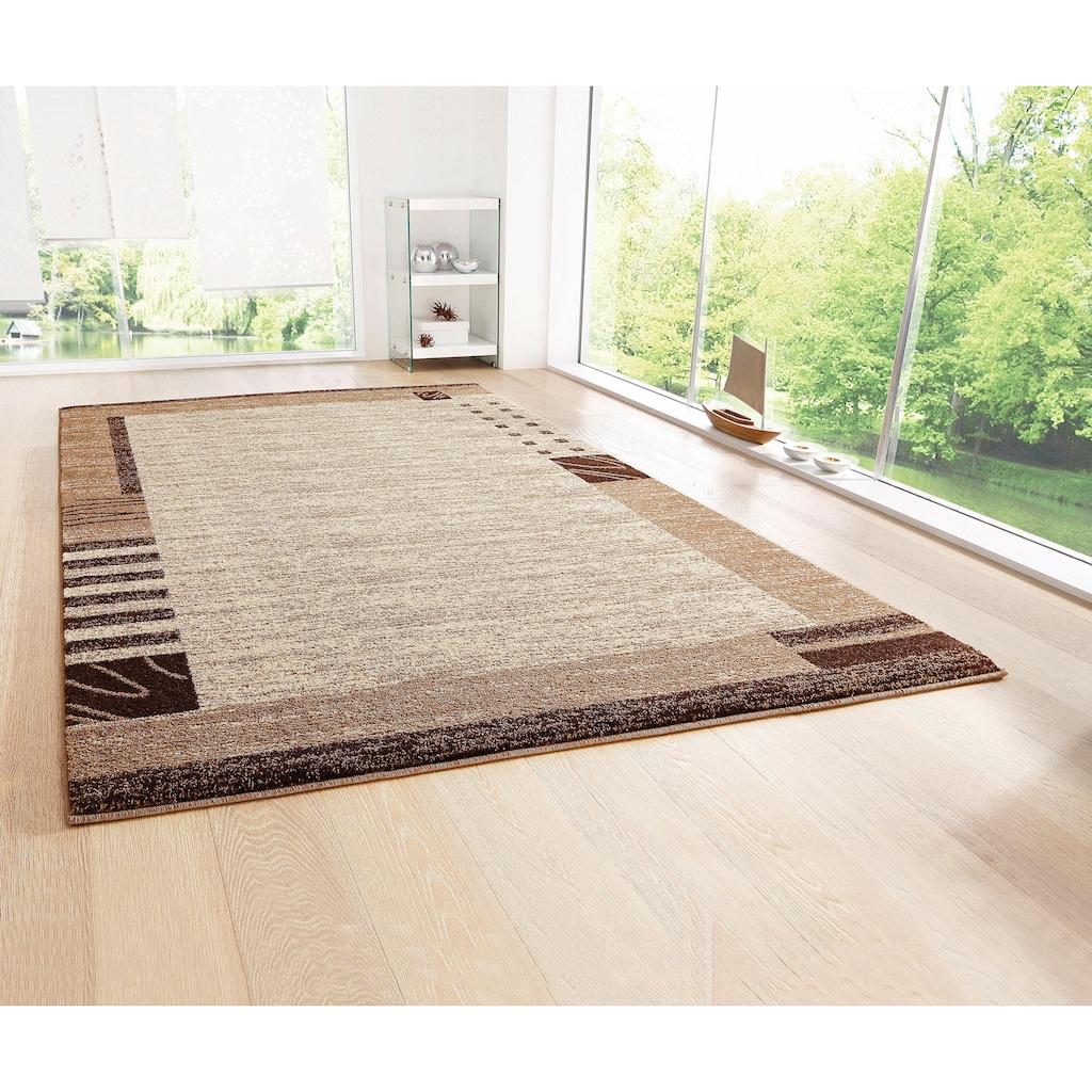 my home Teppich »Jonas«, rechteckig, 8 mm Höhe, mit Bordüre, Wohnzimmer