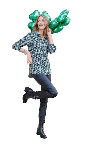 Hose mit edel glänzender Beschichtung in angesagter Leder - Opti kaufen