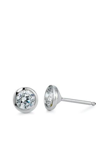 Ohrstecker Silber Zirkonia rhodiniert Ø6 mm, Rhomberg Schmuck kaufen