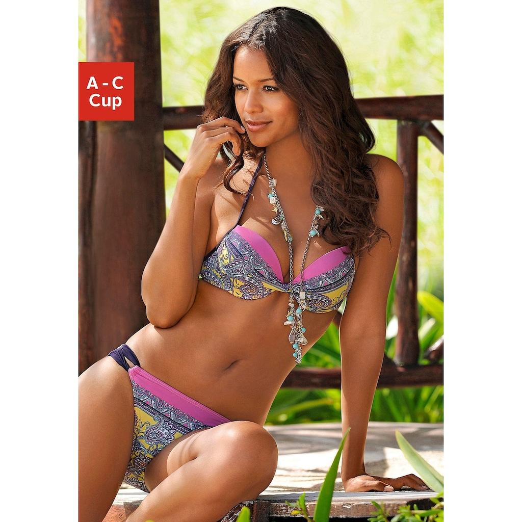 JETTE Push-Up-Bikini, mit Paisleydruck