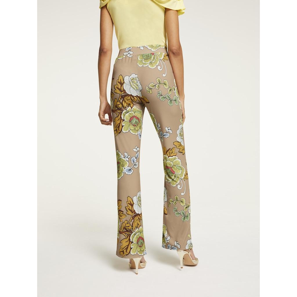ASHLEY BROOKE by Heine Jerseyhose, im floralen Design