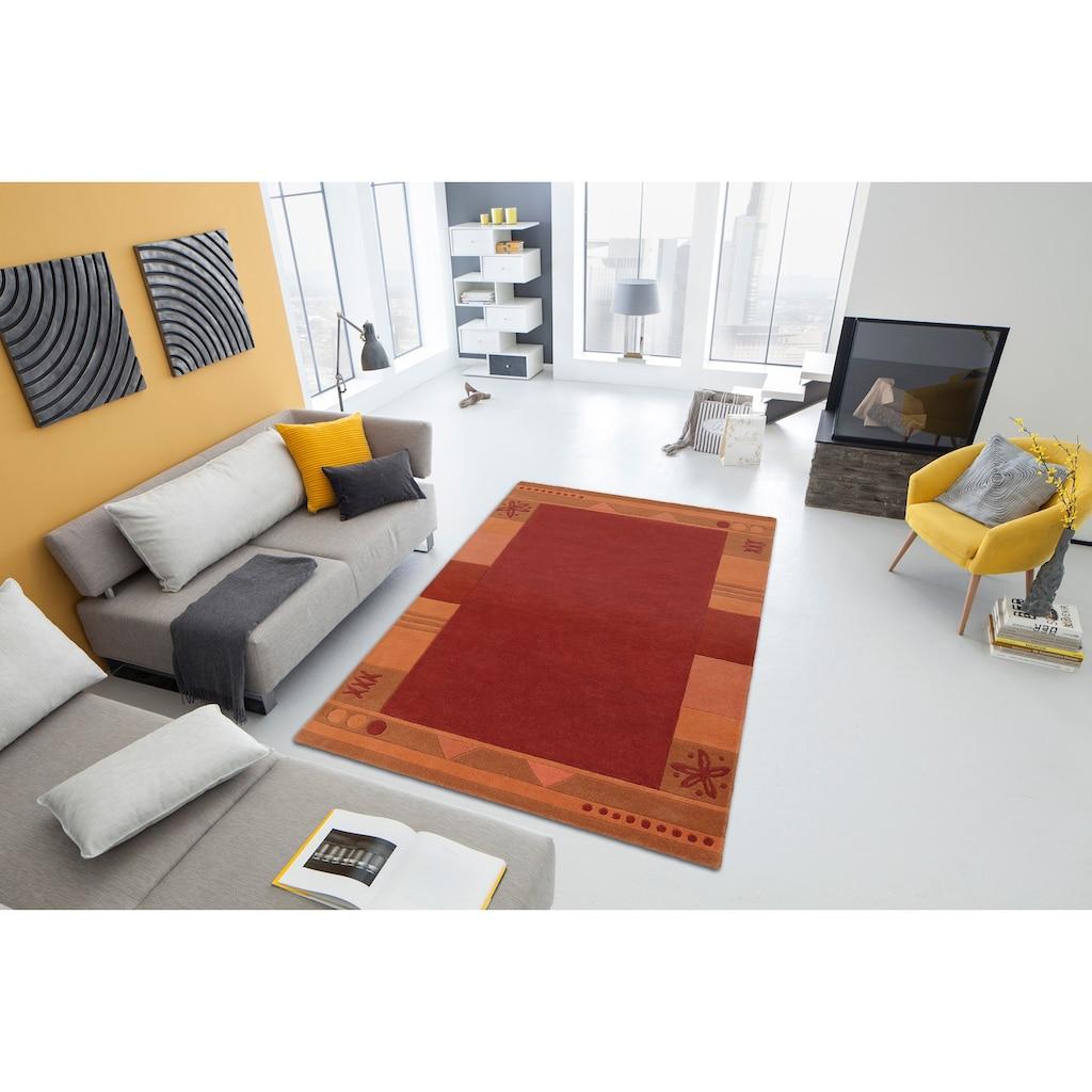 Theko Exklusiv Wollteppich »Estepona«, rechteckig, 13 mm Höhe, reine Schurwolle, handgetuftet, mit Bordüre, Wohnzimmer