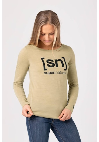 SUPER.NATURAL Longsleeve »W ESSENTIAL I.D. LS«, feinster Merino-Materialmix kaufen