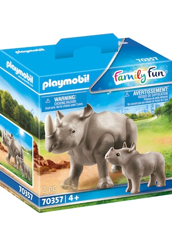 Playmobil® Konstruktions-Spielset »Nashorn mit Baby (70357), Family Fun«, Made in Europe kaufen