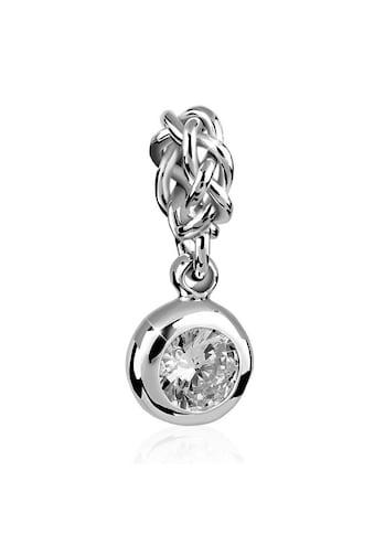Nenalina Charm-Einhänger »Solitär Zirkonia Kristall Knoten Bead 925 Silber« kaufen