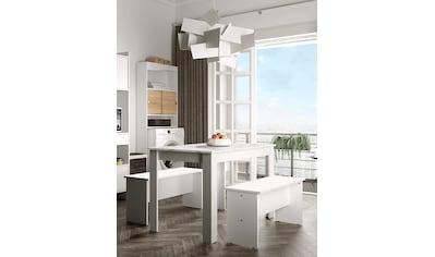 TemaHome Esstisch »Nice«, (3 St.), 3 tlg Set, bestehend aus einem Esstisch mit zwei... kaufen