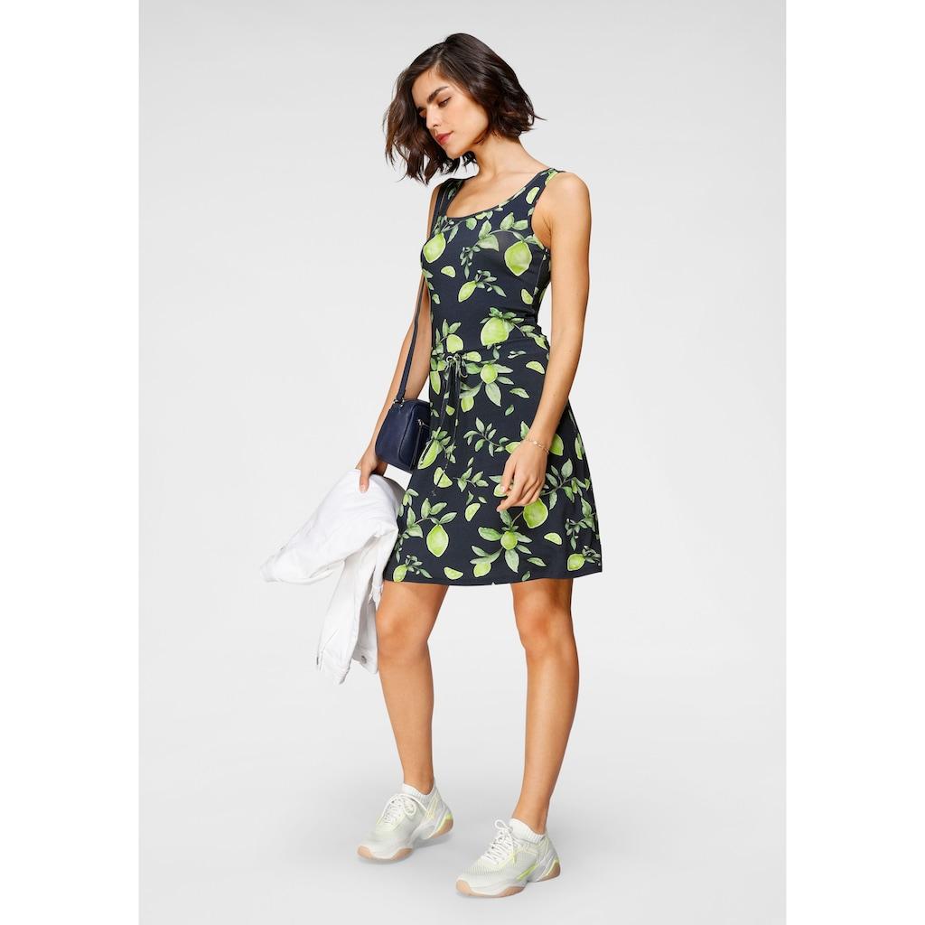 Tamaris Jerseykleid, mit Schnürung und sommerlichem Print