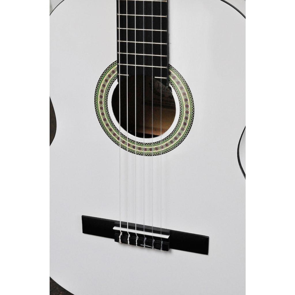 Clifton Konzertgitarre »Konzertgitarrenset White 4/4«, 4/4, Komplettset