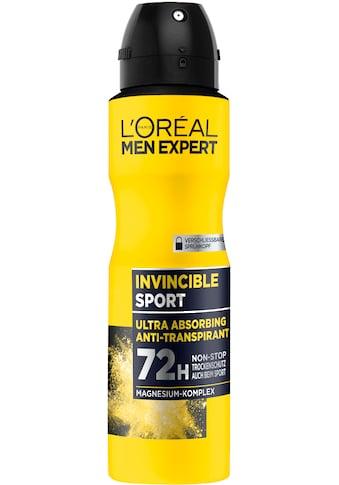L'ORÉAL PARIS MEN EXPERT Deo-Spray »Invincible Sport Anti-Transpirant«, Zuverlässiger... kaufen