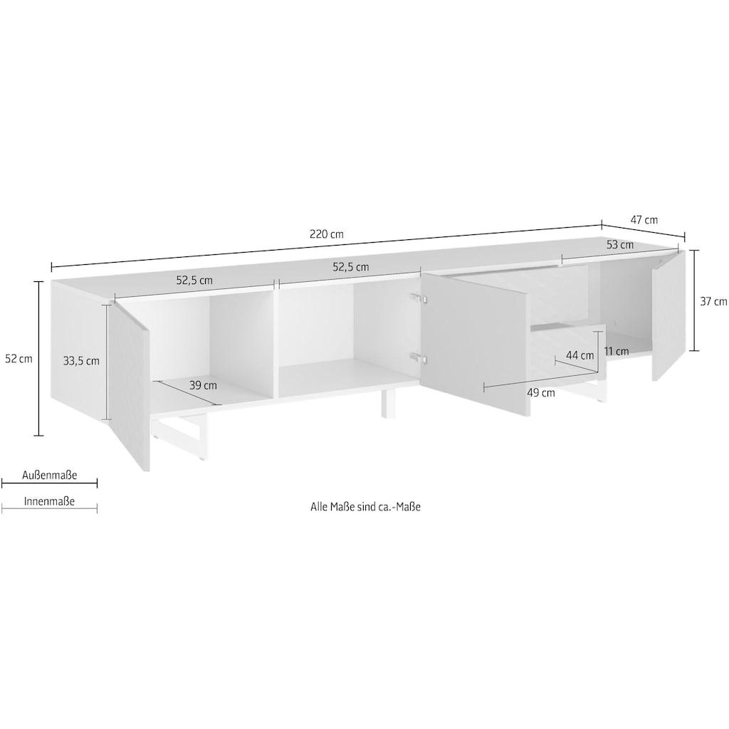 DIVENTA Lowboard »KORFU«, Breite 220 cm