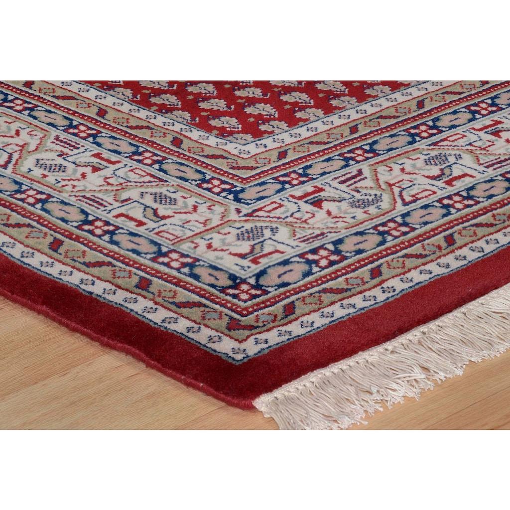 THEKO Orientteppich »Abbas Meraj Mir«, rechteckig, 12 mm Höhe, reine Wolle, handgeknüpft, mit Fransen, Wohnzimmer
