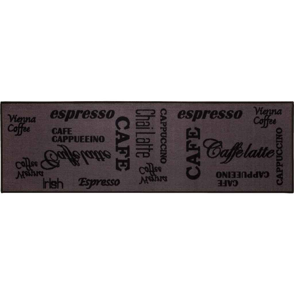 Andiamo Küchenläufer »Espresso«, rechteckig, 5 mm Höhe, mit Schriftzug, Küche