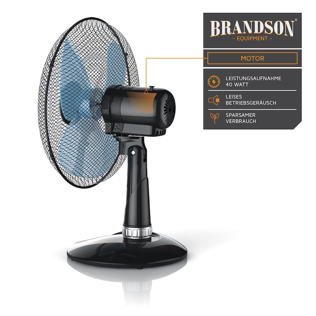 """Brandson Tischventilator """"Silent"""" mit 3 Leistungsstufen"""