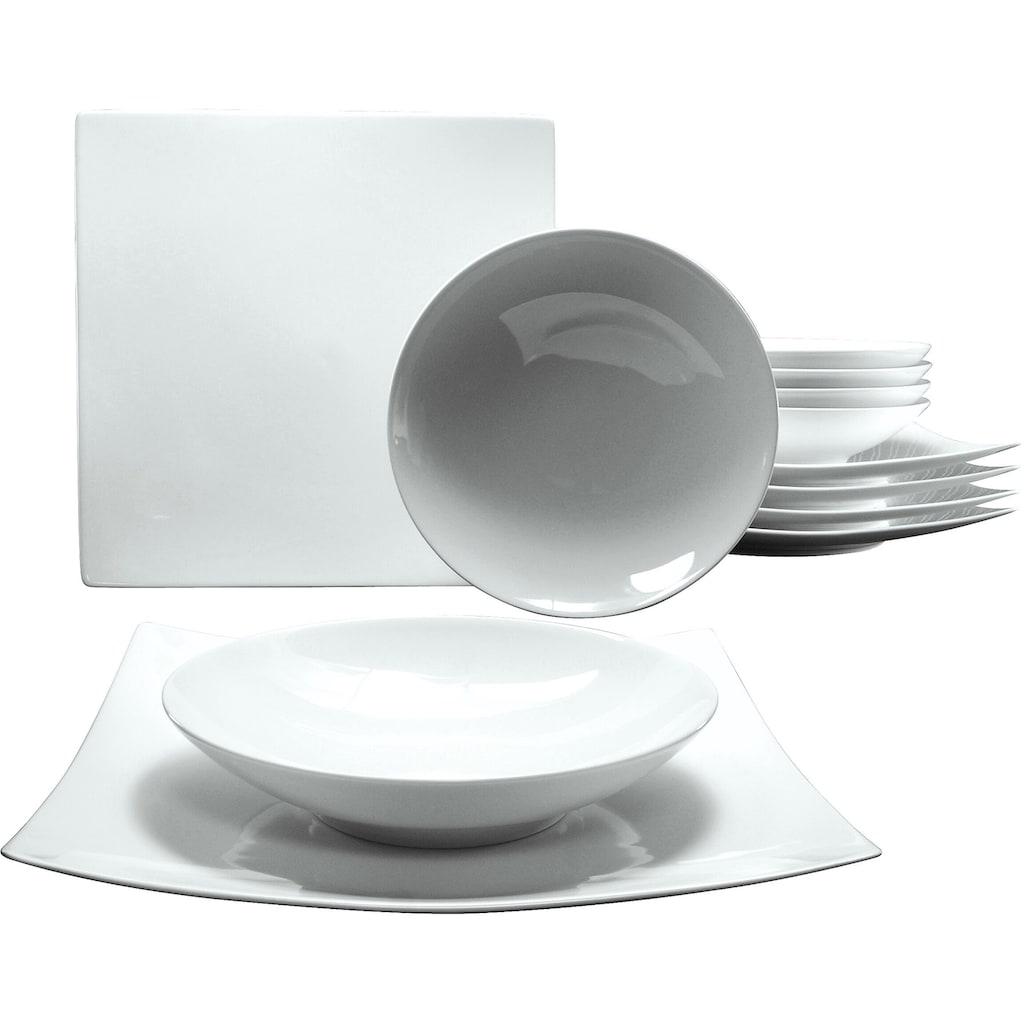 CreaTable Tafelservice »Elegance«, (12 tlg.), Spülmaschinengeeignet
