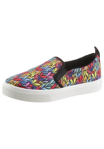 Skechers Slip-On Sneaker »POPPY - HEART IN LOVE«, mit Allover-Print kaufen