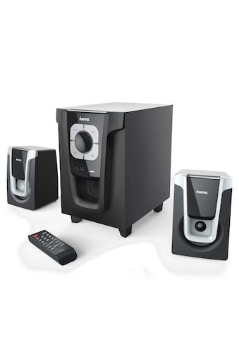 Hama 2.1 - Sound - System PR - 2120, Schwarz/Silber kaufen