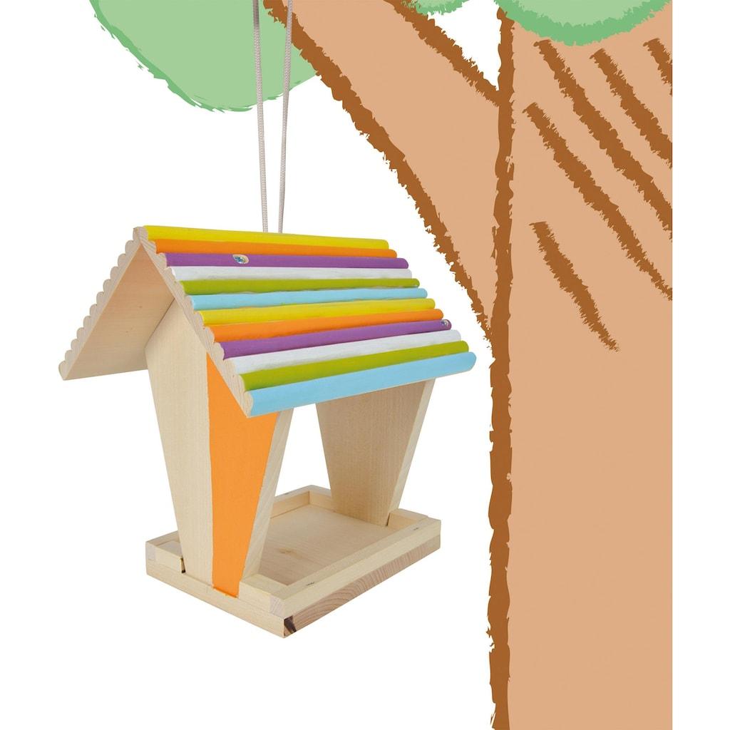 Eichhorn Kreativset »Eichhorn Outdoor, Futterhaus«, (Set), Zum Zusammenbauen und Bemalen; Made in Europe