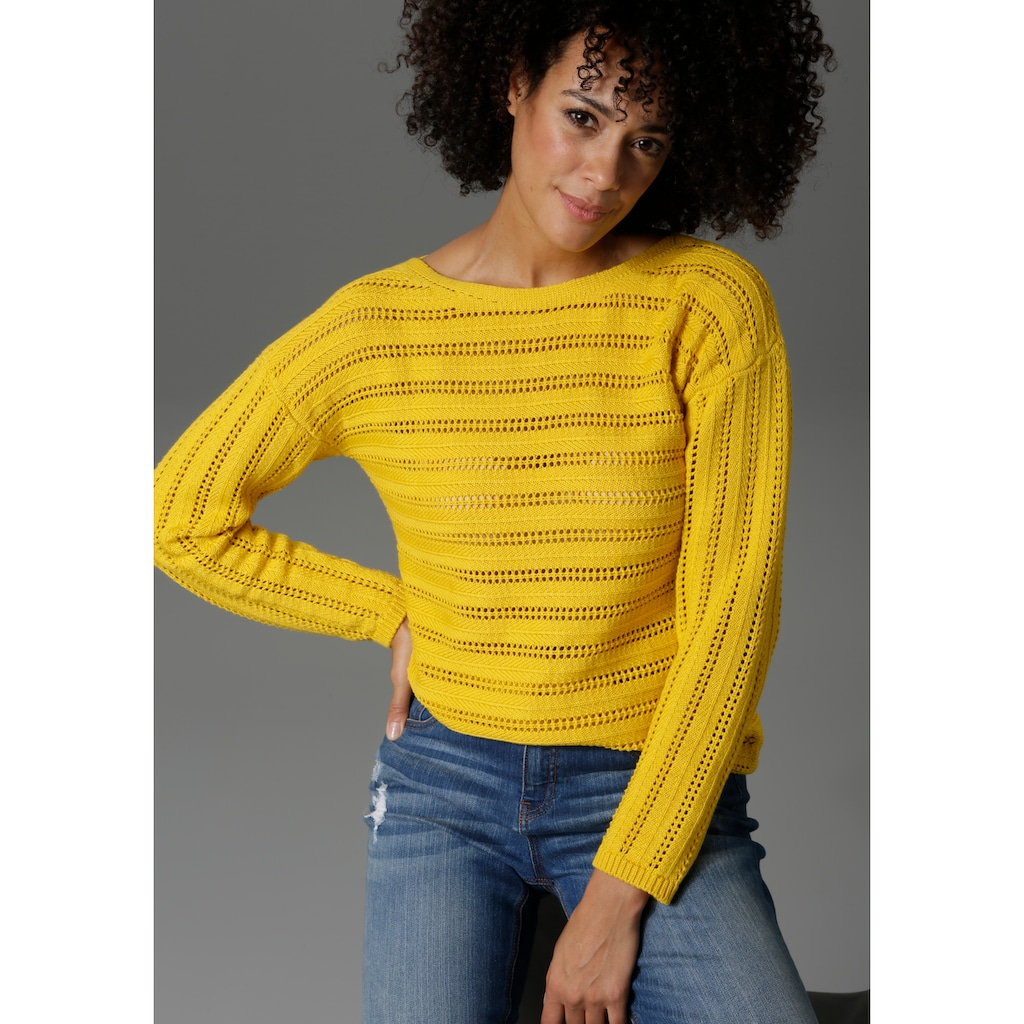 Aniston CASUAL Strickpullover, in trendiger Farbpalette