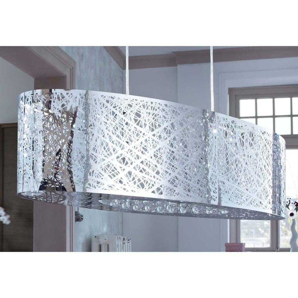 Pendelleuchte, E27, moderne Hängeleuchte, Hängelampe Glaskristalle
