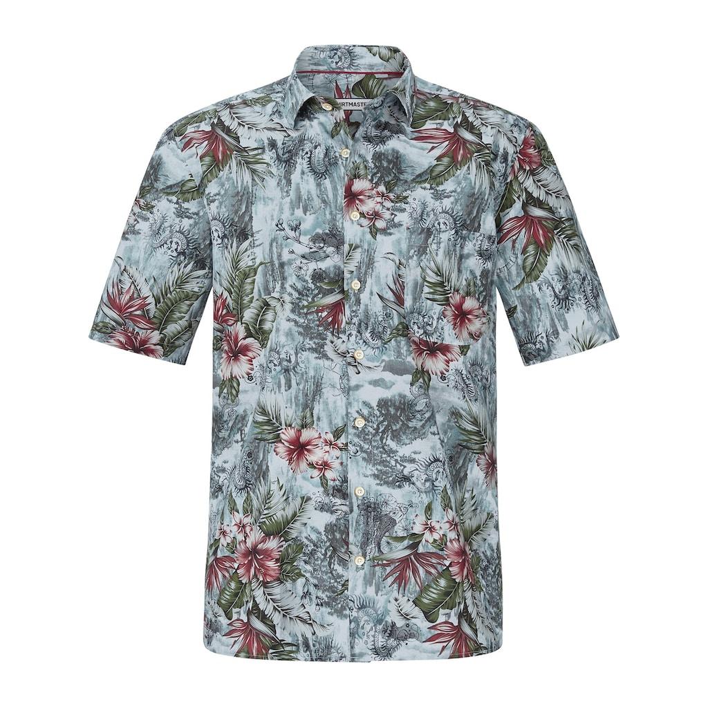 SHIRTMASTER Kurzarmhemd »allmydragons«, mit exotischem Blütendruck