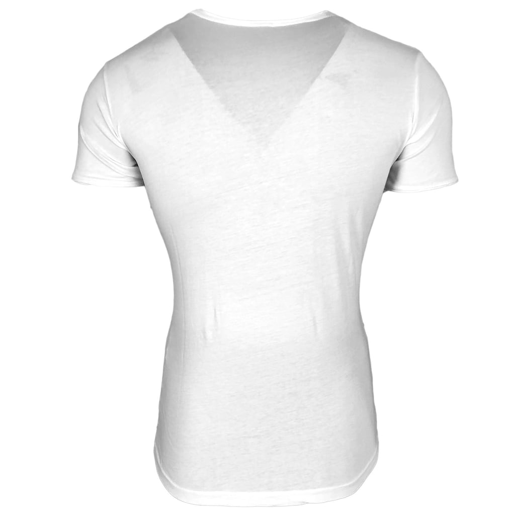 Rusty Neal T-Shirt mit Allover-Print