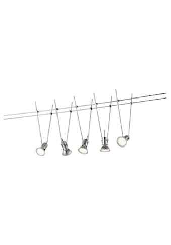 TRIO Leuchten LED Deckenleuchte »BASIC«, GU 5,3, Warmweiß, Seilsystem kaufen