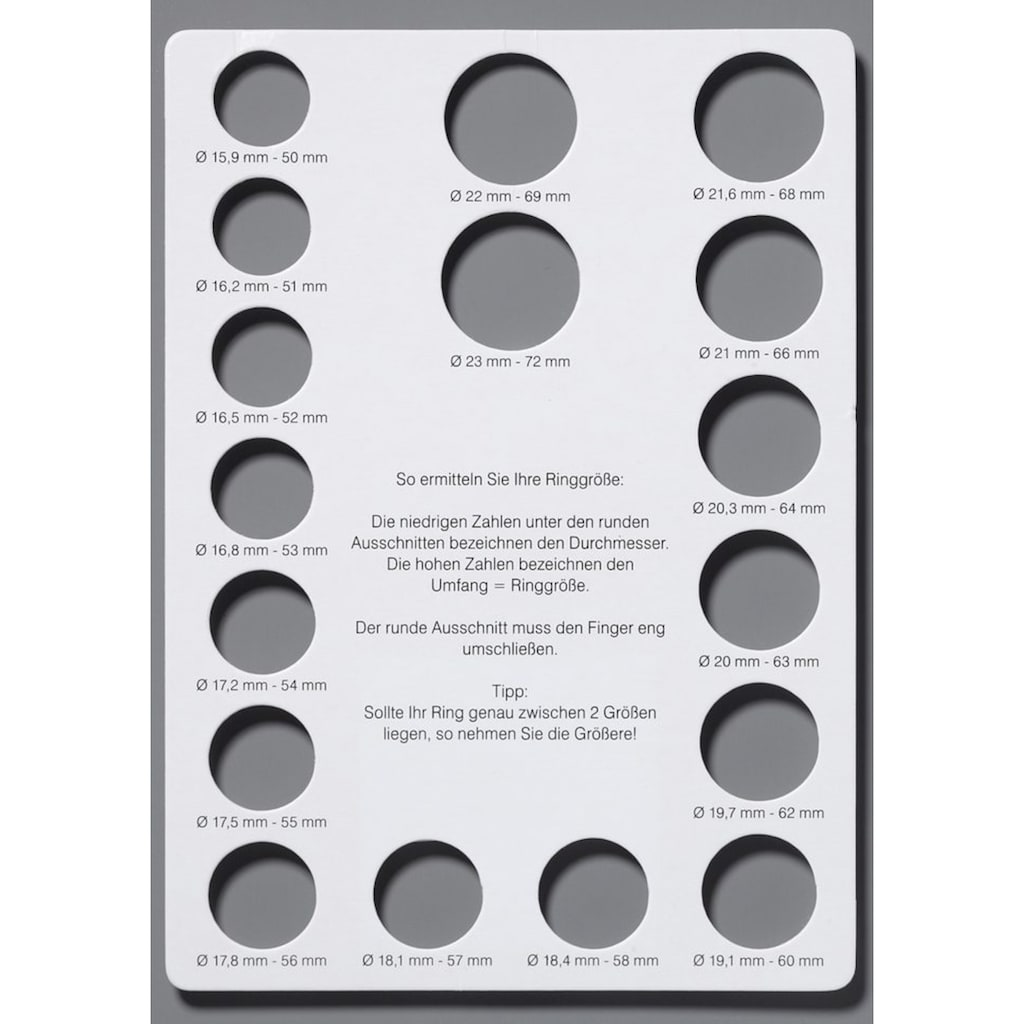 Firetti Fingerring, mit Zirkonia, Solitär-Optik