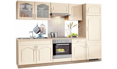 wiho Küchen Küchenzeile »Linz«, mit E - Geräten, Breite 270 cm, mit Edelstahl - Kochmulde kaufen